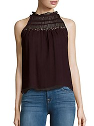 Parker Sleeveless Ruffled Neck Top Barossa