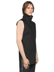 D By D Sleeveless Cotton Shirt W Printed Band