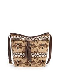 Isabella Fiore Josephine Embroidered Shoulder Bag Espresso