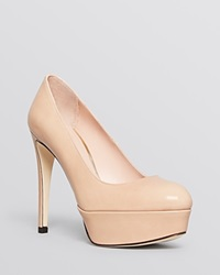 Stuart Weitzman Pointed Toe Platform Pumps Mae High Heel Adobe