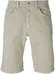 Dondup Buttoned Shorts Nude And Neutrals