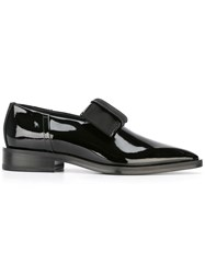 Lanvin Pointed Toe Bow Loafers Black