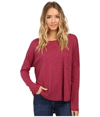 Culture Phit Chavonne Cowl Back Top Burgundy Women's Clothing