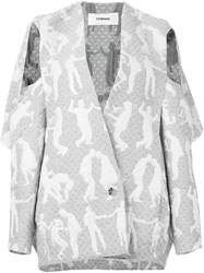 Chalayan Open Pocket Jacket Nude And Neutrals