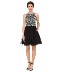 Aidan Mattox Party Dress W Beaded Bodice Black Ivory Women's Dress