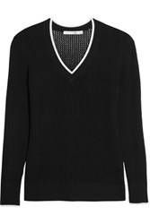Rag And Bone Elizabeth Open Knit Sweater Black