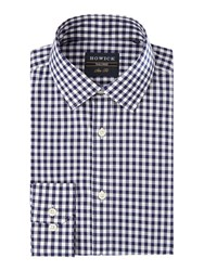 Howick Men's Tailored Turner Gingham Shirt Navy