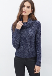 Forever 21 Boxy Marled Turtleneck Sweater