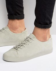 Asos Lace Up Trainers In Grey With Toe Cap Grey Orange