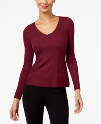 Inc International Concepts Ribbed V Neck Sweater Only At Macy's Port