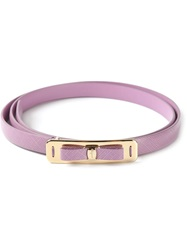 Salvatore Ferragamo 'Vara' Bow Belt Pink And Purple