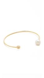 Kacey K Cultured Freshwater Pearl And Diamond Cuff Bracelet Gold Pearl
