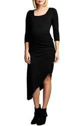 Women's Maternal America Asymmetrical Hem Nursing Dress