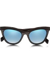Marc By Marc Jacobs Cat Eye Acetate Mirrored Sunglasses