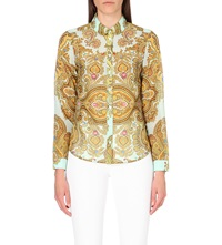 Ted Baker Loosey Jewel Paisley Shirt Light Green