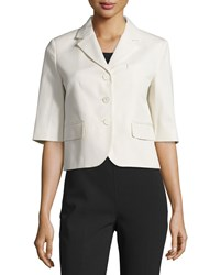 Michael Kors Collection Half Sleeve Button Front Jacket Muslin Women's Size 10