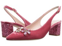Kate Spade Montana Antique Rose Velvet Pink Glitter Heel