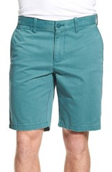 Men's 1901 'Thurston' Twill Shorts Teal Balsam