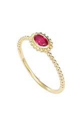 Lagos 'Covet' Oval Stone Caviar Stack Ring Gold Ruby
