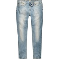 River Island Mens Light Blue Wash Sid Skinny Stretch Jeans
