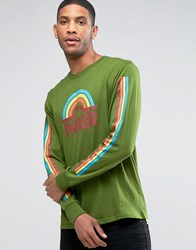 Poler Long Sleeve T Shirt With Rainbow Logo Green