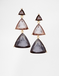 Paper Dolls Grad Triangle Drop Earrings Grey
