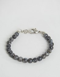 Seven London Beaded Bracelet In Black Black