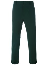 Marni Turn Up Hem Trousers Green