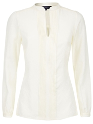 Hotsquash Pleat Blouse In Clever Fabric Cream