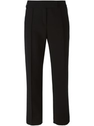 Salvatore Ferragamo Straight Leg Trousers Black