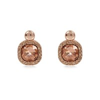 River Island Womens Rose Gold Gemstone Stud Earrings