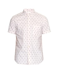 Steven Alan Palm Tree Embroidered Cotton Shirt