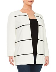 Nipon Boutique Plus Piped Textured Jacket Vanilla Ice