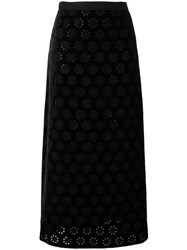 Giambattista Valli Lace Overlay Skirt Black
