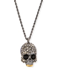 Elements Crystal Skull Pendant Necklace Alexis Bittar