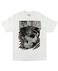 Metal Mulisha Men's Graphic Print T Shirt Optic White