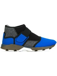 Marni Neoprene Hi Top Sneakers Blue