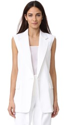 Dkny Notch Collar Vest With Open Back Chalk