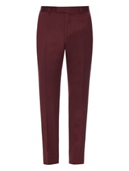Dunhill Mid Rise Straight Leg Wool Trousers