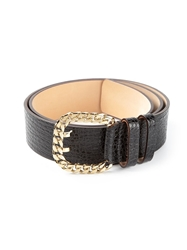 Dsquared2 Curb Chain Buckle Belt Black