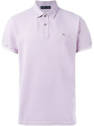 Etro Short Sleeve Polo Shirt Pink And Purple