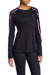 Asics Lite Show Long Sleeve Crew Neck Tee Black