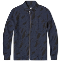 Our Legacy Zip Overshirt Navy Running Flame