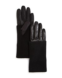 Urban Research Ur Levi Leather Tech Gloves Black