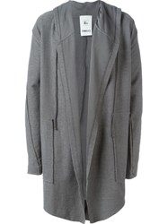 Lost And Found Rooms Melange Hooded Cardigan Grey