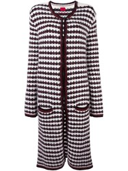 Moncler Gamme Rouge Woven Long Cardi Coat Red