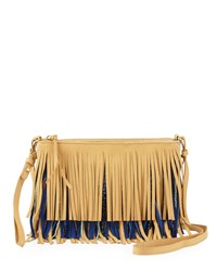 Sam Edelman Claudia Fringe Convertible Crossbody Bag Nude