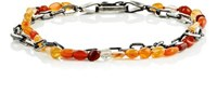 Suzanne Felsen Men's Fire Opal And Sterling Silver Double Strand Bracelet Red