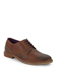 Ben Sherman Leon Leather Oxfords Cognac