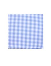 The Tie Bar Gingham Checked Pocket Square Light Blue
